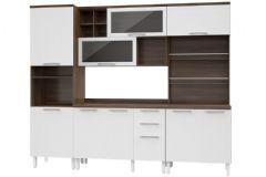 Cozinha Completa Thela/Telasul Alecrim de Madeira 30 4 Peças (2 Paneleiros + Aéreo + Gabinete) - Cozinhas Telasul