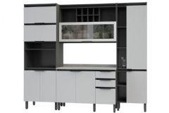Cozinha Completa Telasul Hibisco 4 Peças c/ USB (2 Paneleiros + Aéreo + Gabinete) - Cozinhas Telasul