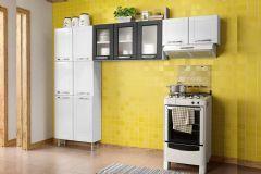 Cozinha Compacta Modulado Bertolini Múltipla CZM06 Aço 3 Peças (Paneleiro+Armários) - Cozinhas Bertolini