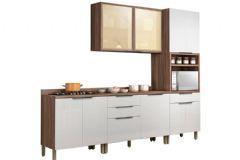Cozinha Compacta Nesher Donna de Madeira 4 Peças (Paneleiro + Aéreo + 2 Gabinetes) - Cozinhas Nesher