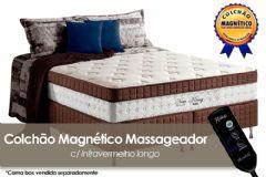 Colchão Anjos de Molas Pocket New King Magnético c/ Massageador Euro Pillow - Colchão Solteiro - 0,88x1,88x0,30 - Sem Cama Box