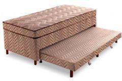 Conjugado Cama Box c/ Auxiliar D28 + Colchão Paropas Molas Extrapedic Sublime Clean Euro Pillow INMETRO - Colchão Paropas