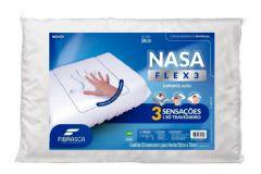 Travesseiro Fibrasca Visco + Espuma Massageadora Nasa Flex 3 (Alto) - 4424 - Travesseiro Fibrasca