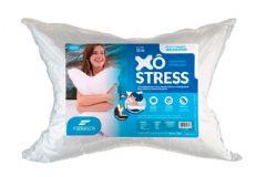 Travesseiro Fibrasca Dupla Face Xô Stress Fibra + Espuma Massageadora - Travesseiro Fibrasca