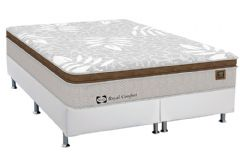 Conjunto Cama Box - Colchão Sealy de Molas Posturepedic Royal Comfort Plus + Cama Box Courino Bianco - Colchão Sealy