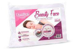Travesseiro Duoflex Beauty Face Viscoelástico BF3100 c/ Capa de Cetim p/ Fronha 50x70 - Travesseiro Duoflex
