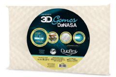 Travesseiro Duoflex 3D Gomos DaNasa Viscoelástico DT3200 c/ Capa de Algodão p/ Fronha 45x65 - Travesseiro Duoflex