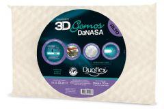 Travesseiro Duoflex 3D Gomos DaNasa Alto Viscoelástico DT3201 c/ Capa de Algodão p/ Fronha 50x70 - Travesseiro Duoflex