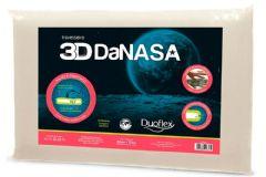 Travesseiro Duoflex 3D DaNasa Viscoelástico DT3240 c/ Capa de Algodão p/ Fronha 45x65 - Travesseiro Duoflex
