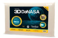 Travesseiro Duoflex 3D DaNasa Alto Viscoelástico DT3241 c/ Capa de Algodão p/ Fronha 50x70 - Travesseiro Duoflex
