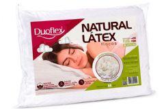 Travesseiro Duoflex Natural Látex Flocos FL1100 c/ Capa Percal 200 Fios p/ Fronha 50x70 - Travesseiro Duoflex
