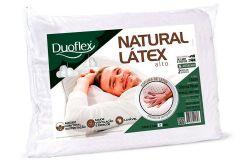 Travesseiro Duoflex Natural Látex Alto LN1100 c/ Capa Percal 200 Fios p/ Fronha de 50x70 - Travesseiro Duoflex