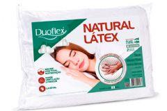 Travesseiro Duoflex Natural Látex LN1104 c/ Capa Percal 200 Fios p/ Fronha de 50x70 - Travesseiro Duoflex