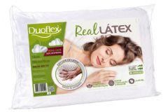Travesseiro Duoflex Real Látex LS1104 c/ Capa Dry Fresh p/ Fronha 50x70 - Travesseiro Duoflex