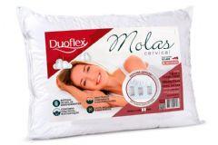 Travesseiro Duoflex Molas Cervical MN2101 c/ Capa Percal 200 Fios p/ Fronha 50x70 - Travesseiro Duoflex