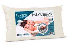 Travesseiro Duoflex Nasa Luxo King Alto Viscoelástico NN1016 c/ Capa p/ Fronha 50x90 - Travesseiro Duoflex