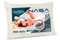 Travesseiro Duoflex Nasa Luxo Alto Viscoelástico NN1116 c/ Capa p/ Fronha 50x70 - Travesseiro Duoflex