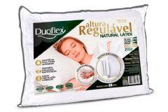 Travesseiro Duoflex Natural Látex Regulável 4 Alturas RL1100 c/ Capa Percal 300 Fios p/ Fronha 50x70 - Travesseiro Duoflex