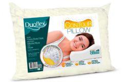 Travesseiro Duoflex Contour Pillow Espuma Aerada TP2102 c/ Capa de Algodão p/ Fronha 50x70 - Travesseiro Duoflex