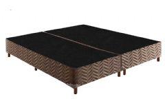 Cama Box Base Paropas Sommier Tecido Rústico Brown 024 - Colchão Paropas