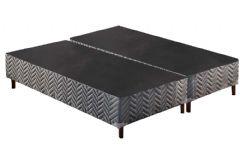 Cama Box Base Paropas Sommier Tecido Rústico Gray 024 - Colchão Paropas