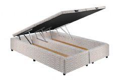 Cama Box Baú Paropas Universal Tecido Rústico Fort White - Colchão Paropas