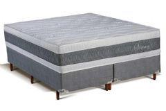 Colchão Polar de Molas Superlastic Serenatta Fort Gray Euro Pillow - Colchão Solteiro - 0,88x1,88x0,30 - Sem Cama Box