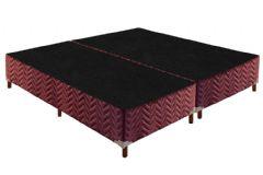 Cama Box Base Paropas Universal Tecido Rustico Fort Wine 020 - Cama Box Solteiro - 0,88x1,88x0,20 - Sem Colchão
