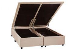 Cama Box Baú Universal CRC Nobuck Camurça Clean - Cama Box Solteiro - 0,88x1,88x0,35 - Sem Colchão