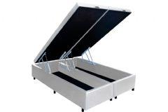 Cama Box Baú Universal CRC Courino White - Cama Box Solteiro - 0,88x1,88x0,35 - Sem Colchão
