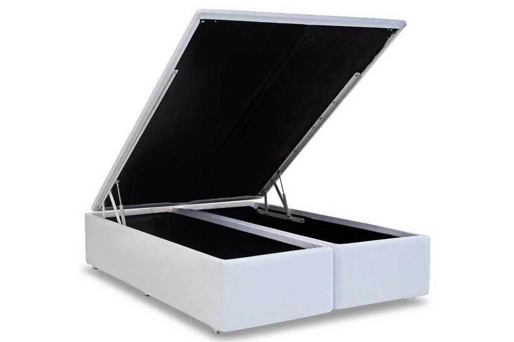 Cama Box Baú Ortobom Courino Bianco - Colchão Ortobom