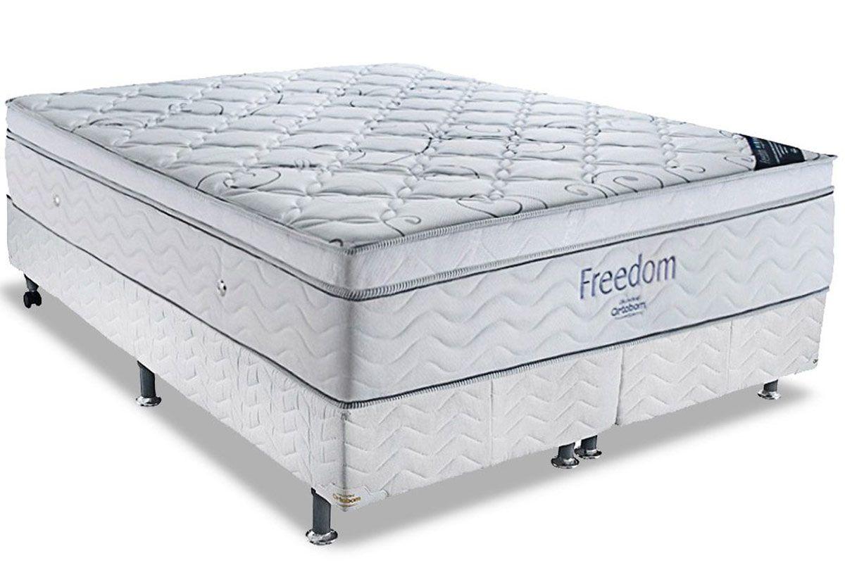 Colchão Ortobom de Molas Pocket Freedom Pillow Top Viscoelástico - Colchão Ortobom