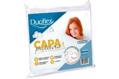 Capa p/ Travesseiro Duoflex CP0100 Percal 200 Fios - Protetor de Travesseiro Impermeável 50x70